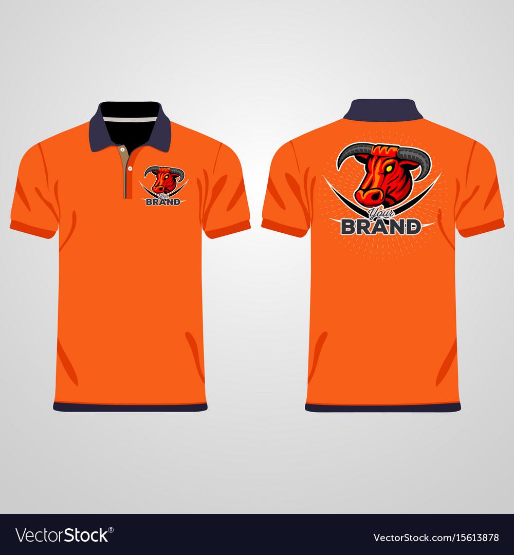 Color Men Polo Shirts Design Template Royalty Free Vector