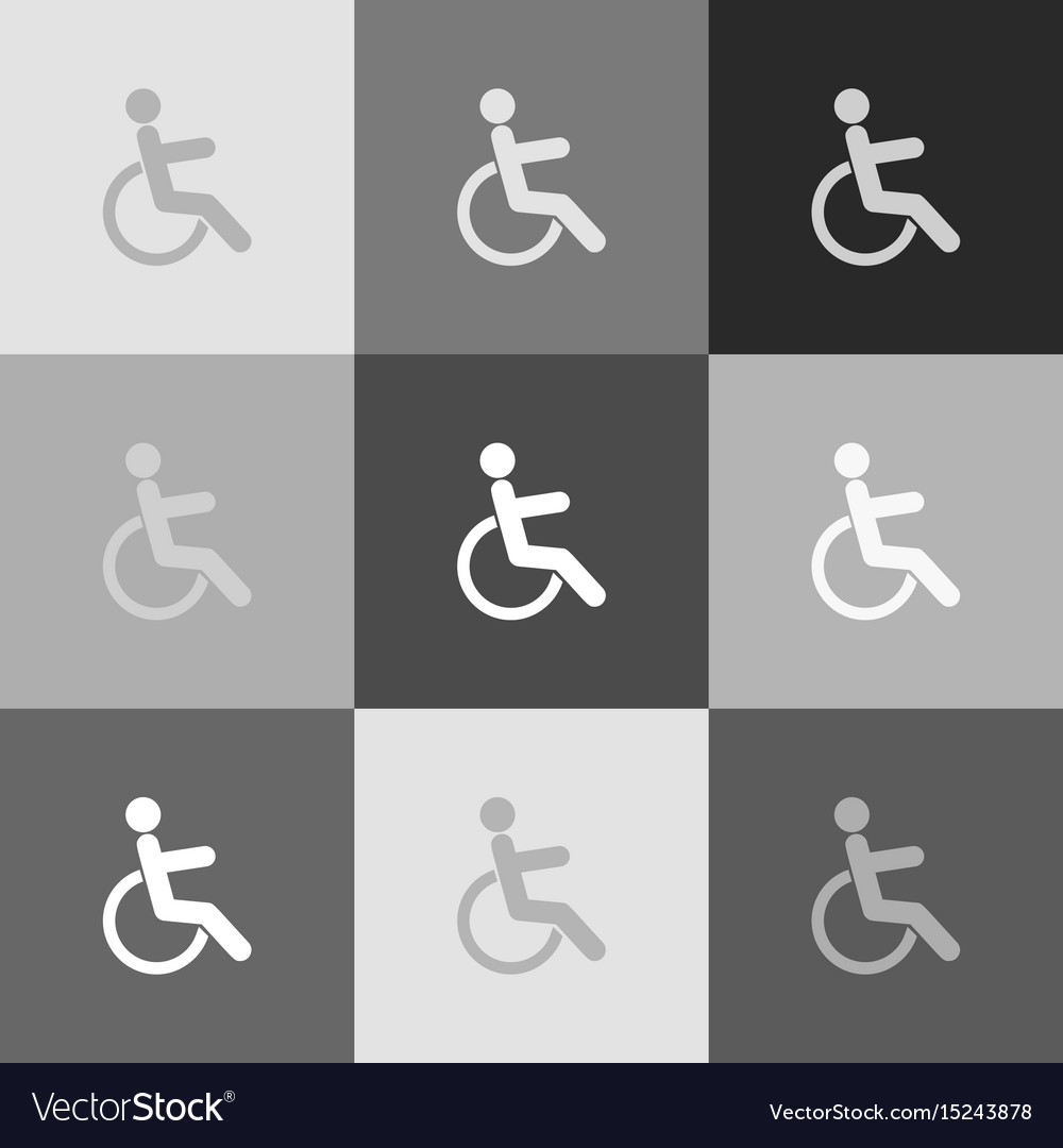 Disabled sign grayscale