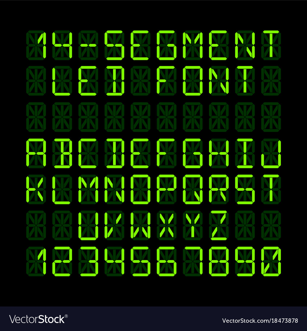 Fourteen segment led display letters and numerals