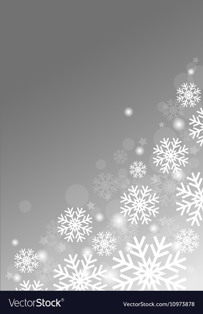 Gray background with snowflakes