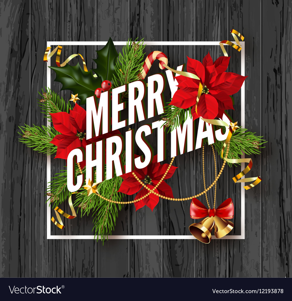 Merry Christmas Greeting Card Template Royalty Free Vector - Christmas greeting card template