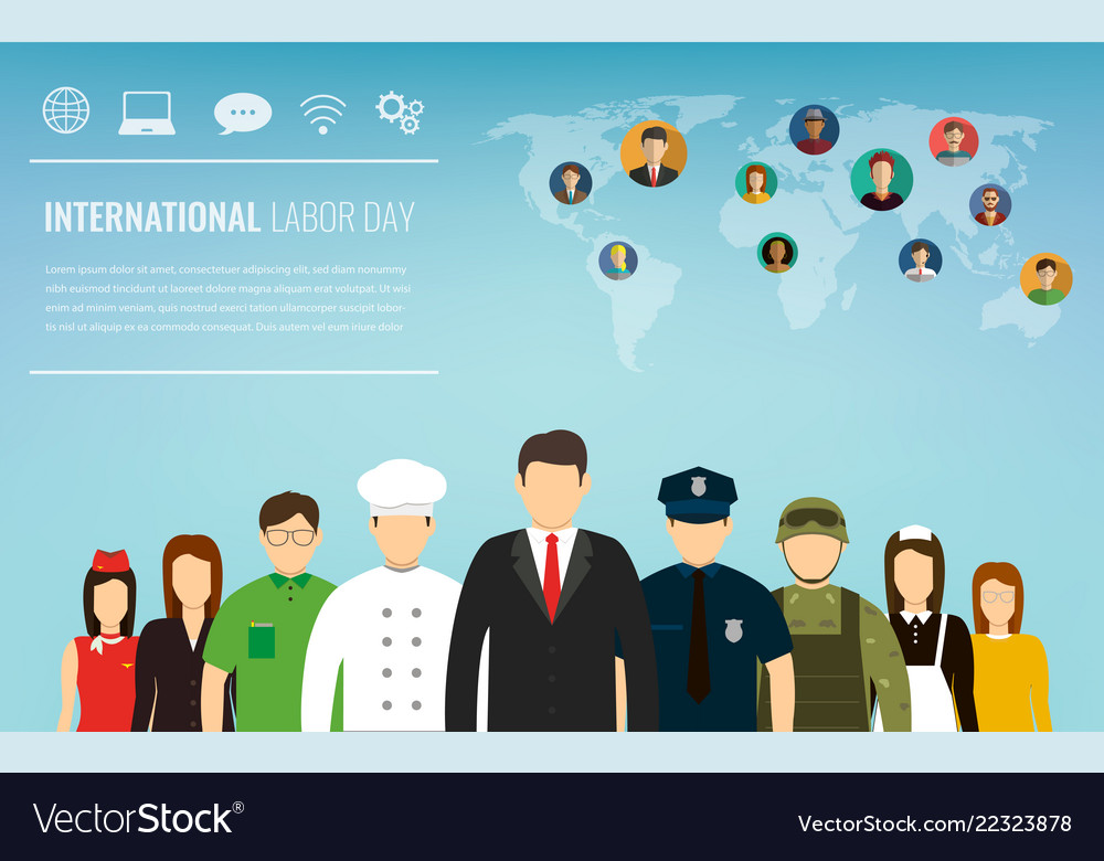 People of different occupations professions set