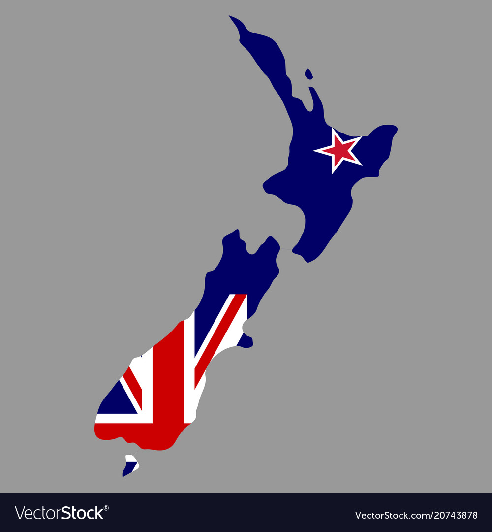 Download New Zealand Map.Silhouette Country Borders Map Of New Zealand On