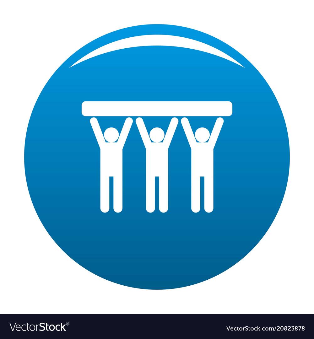 Strong teamwork icon blue