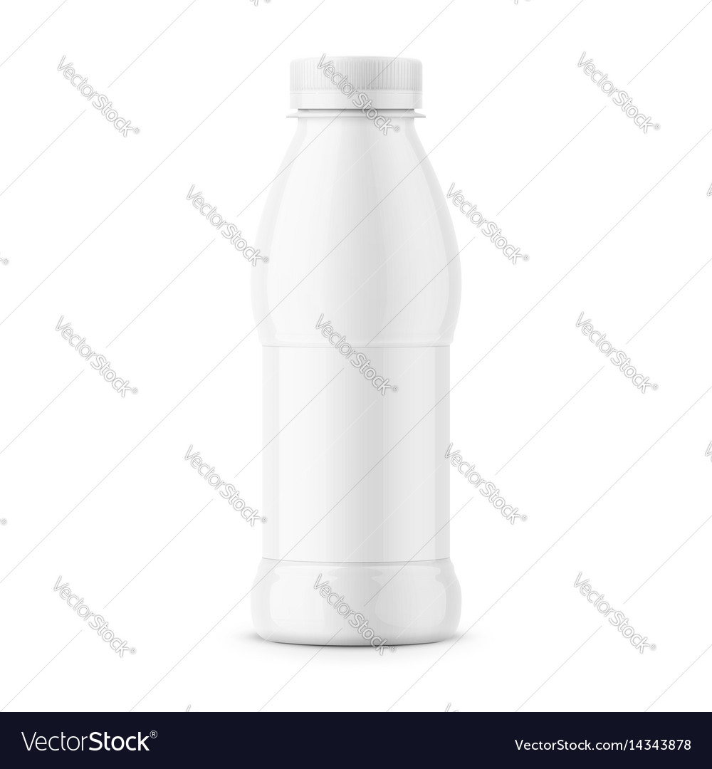 White milk bottle template