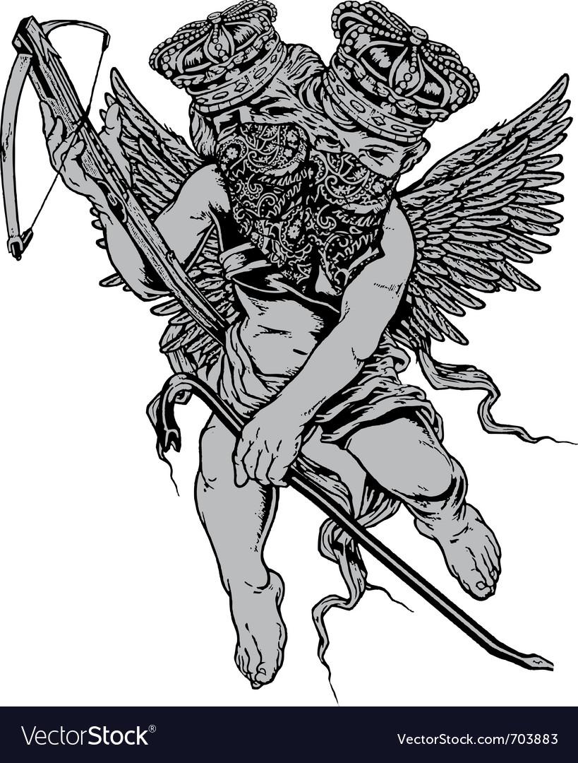 Armed two head bad angel