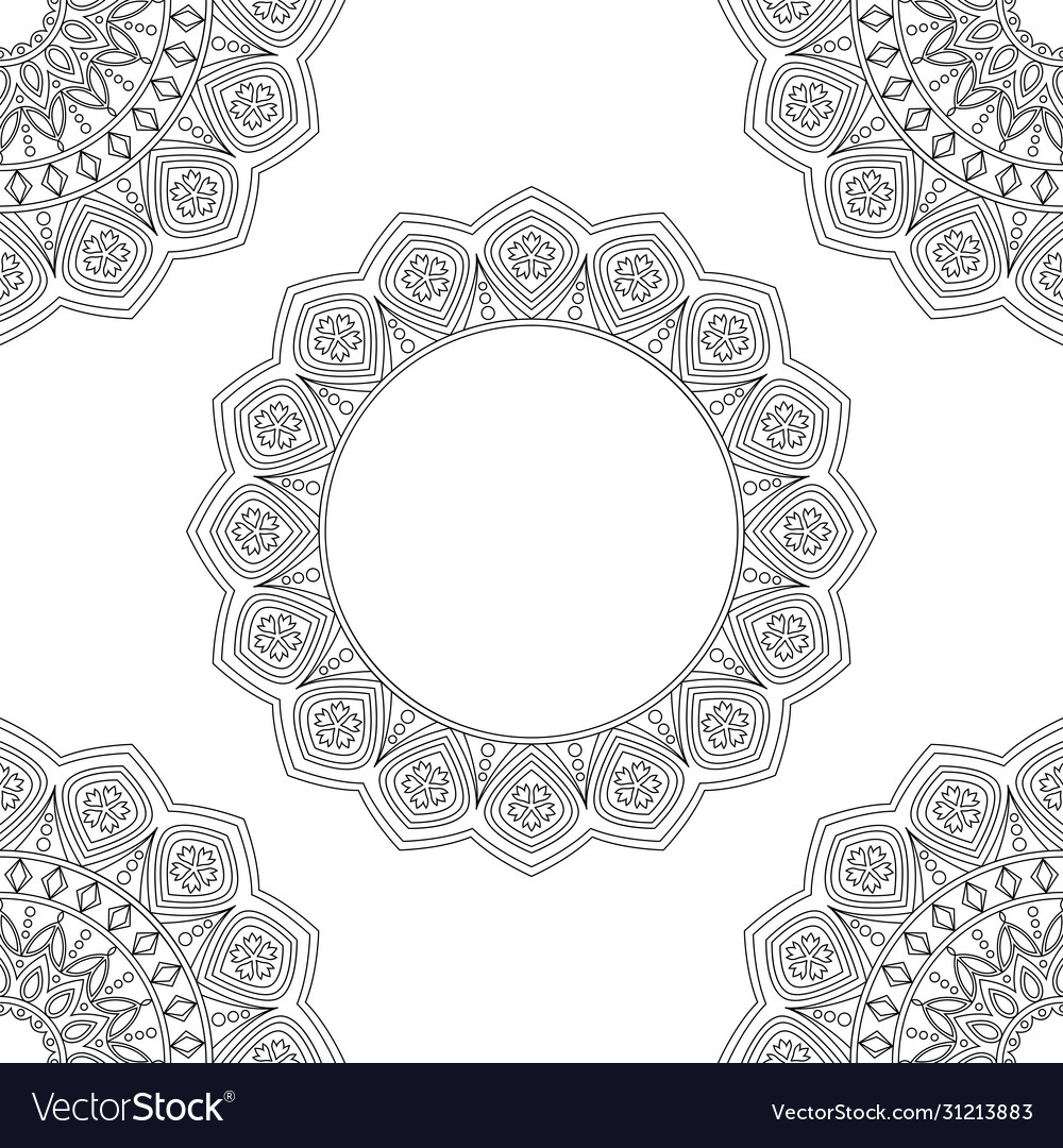 Background with floral mandalas coloring book