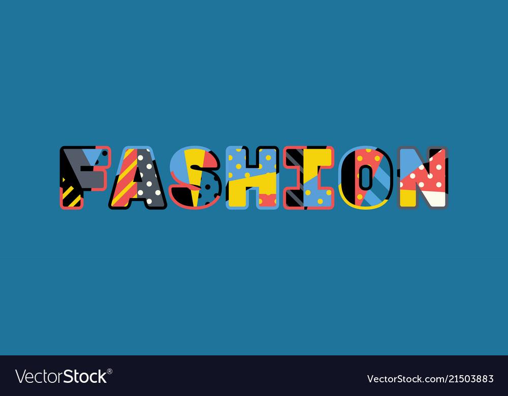 Fashion concept word art
