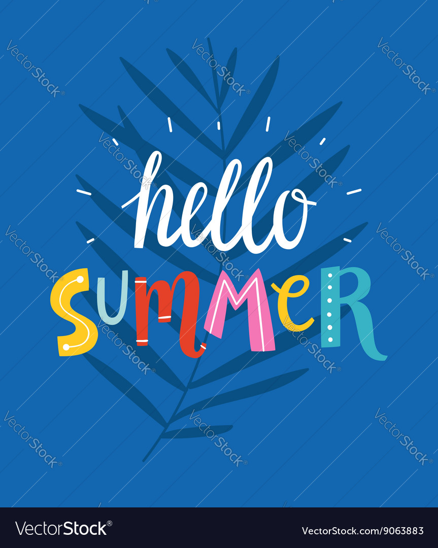 Hello summer blue card