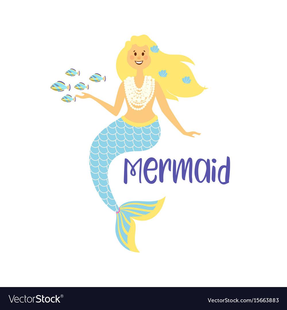 Mermaids little cute girls underwater world sea