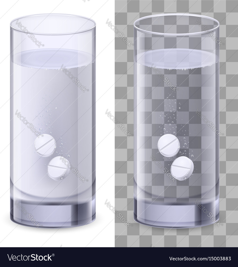 Real glass and pills on white for design
