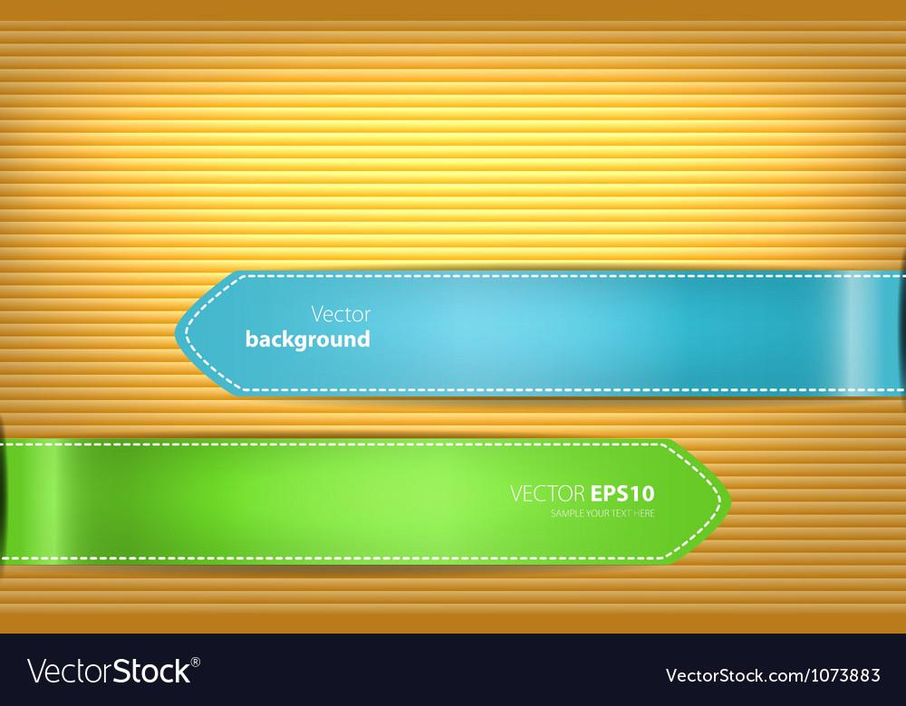 Sticker wooden vector image