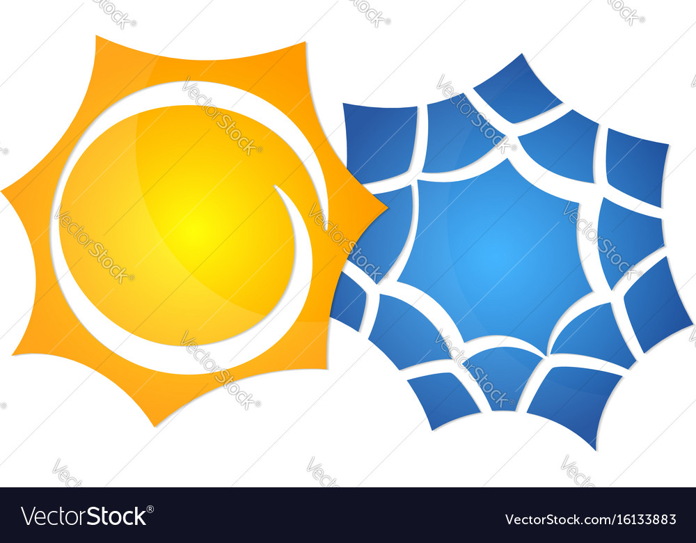 Symbol Of The Sun And A Snowflake Royalty Free Vector Image