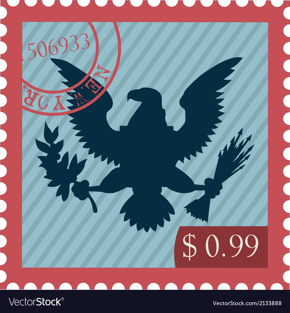 Eagle Stamp Vector Image