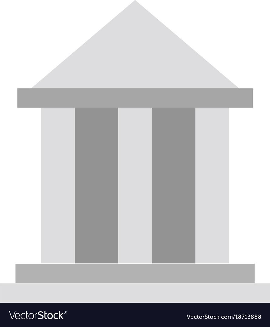 Greek Building Symbol Royalty Free Vector Image