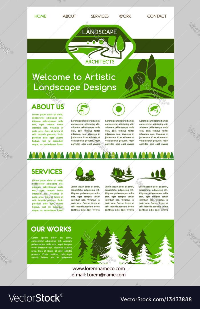 Landing page template for landscape design website