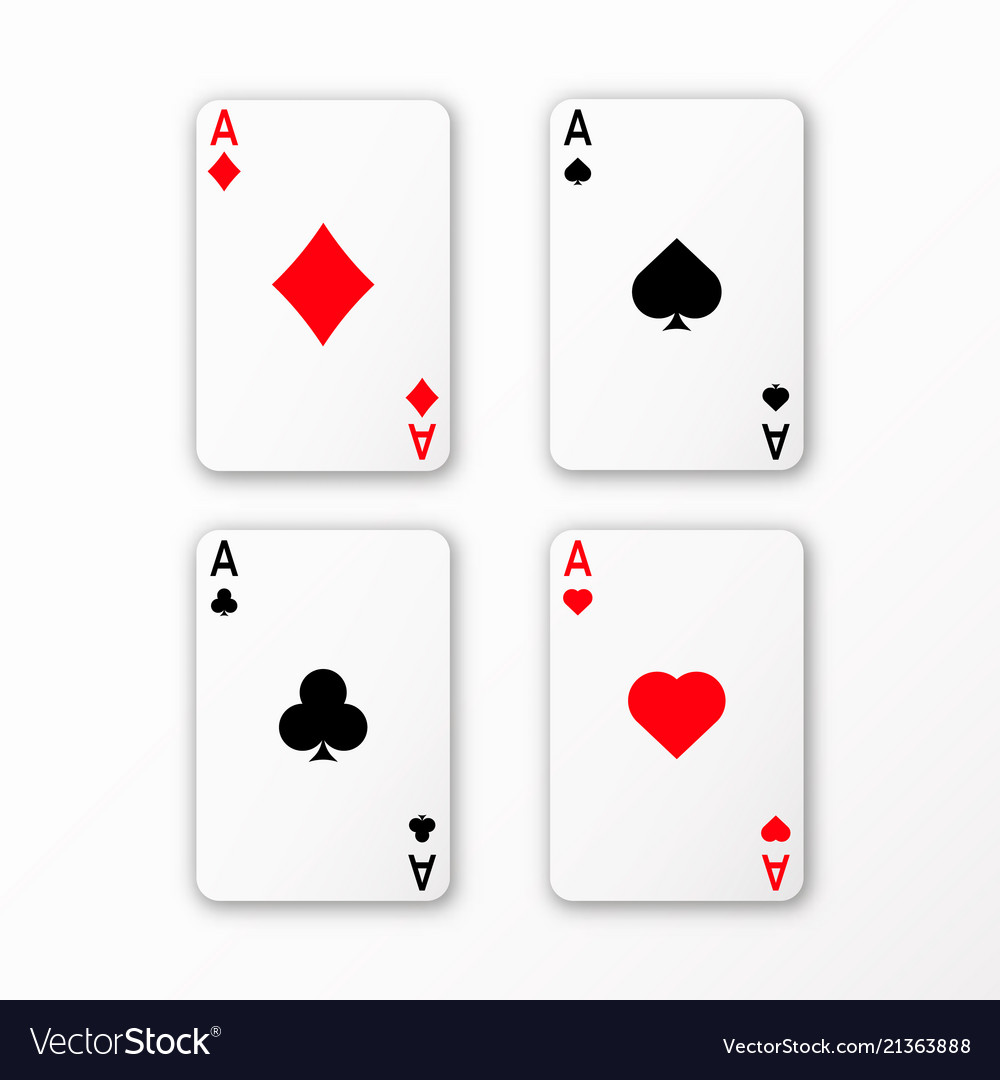 Playing cards ace set casino card