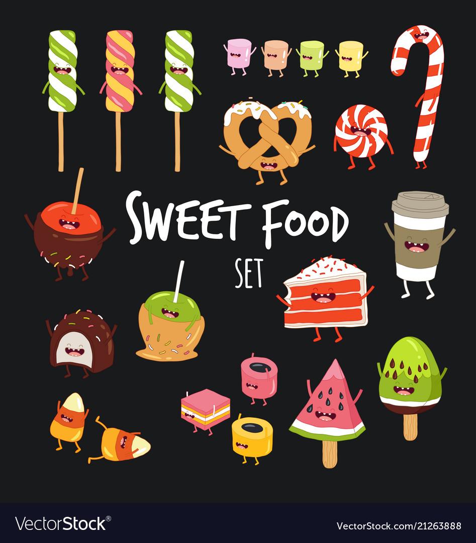 Sweet fast food set