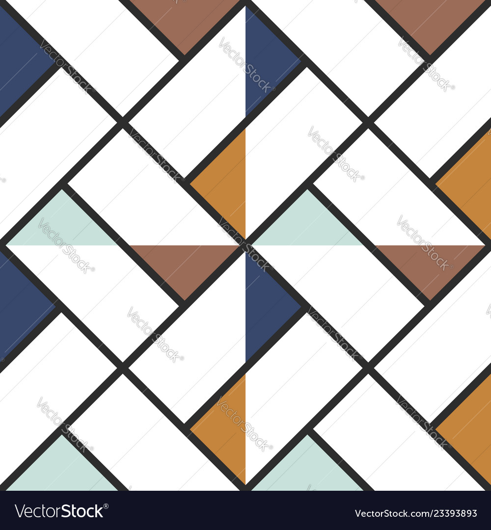 Checkered Floor Tile Abstract Colored