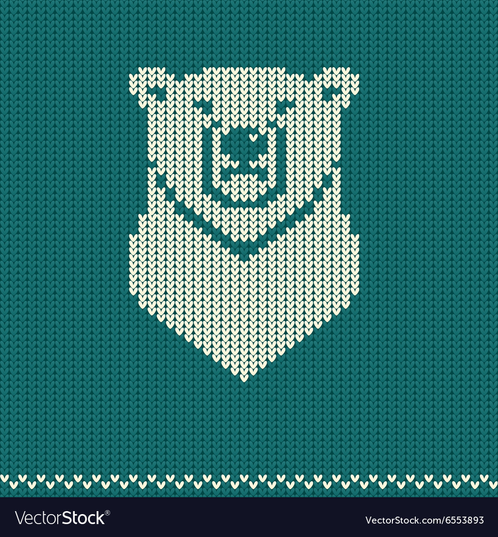 Knitted pattern with polar bear
