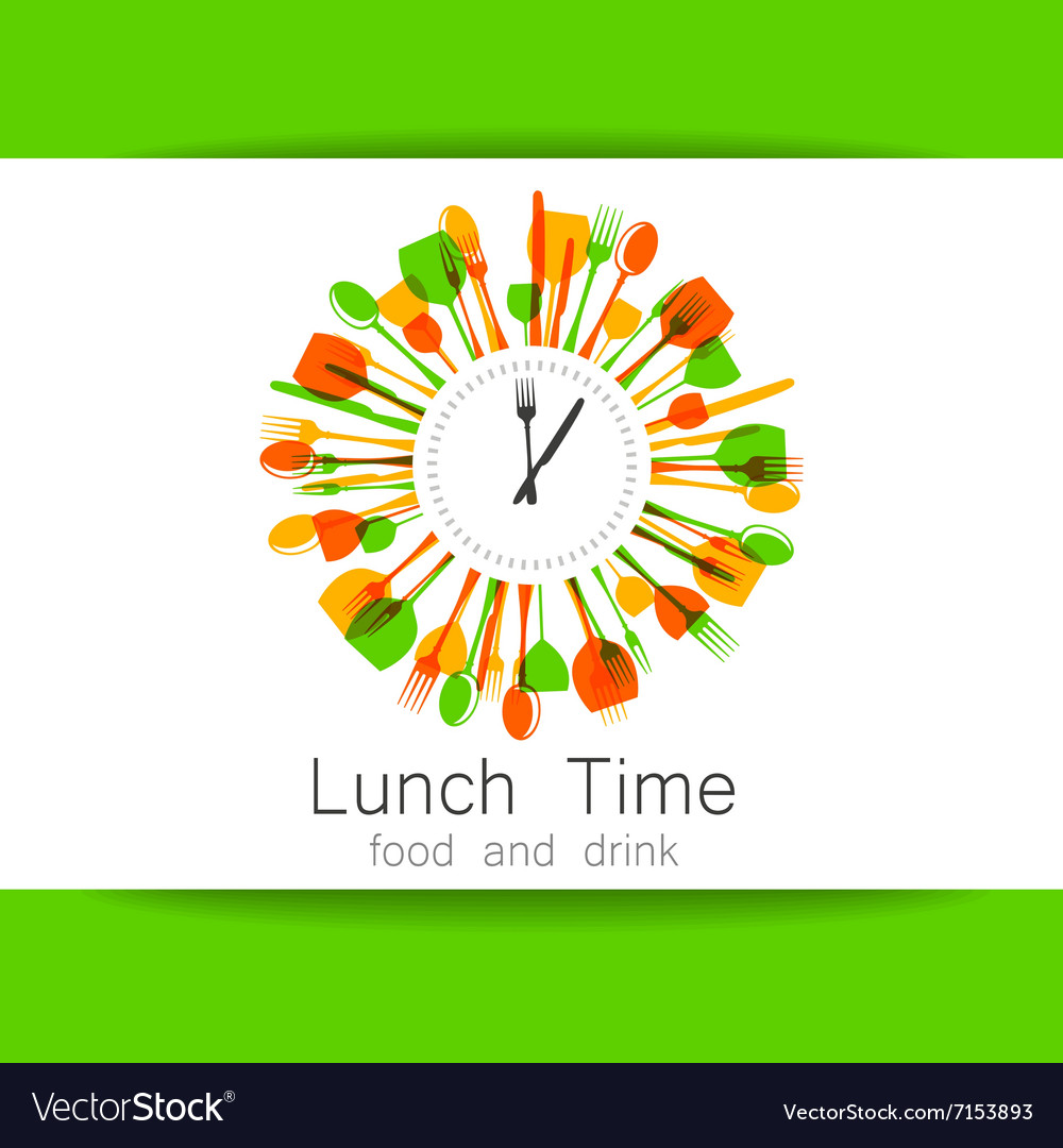 Lunch time logo vector image
