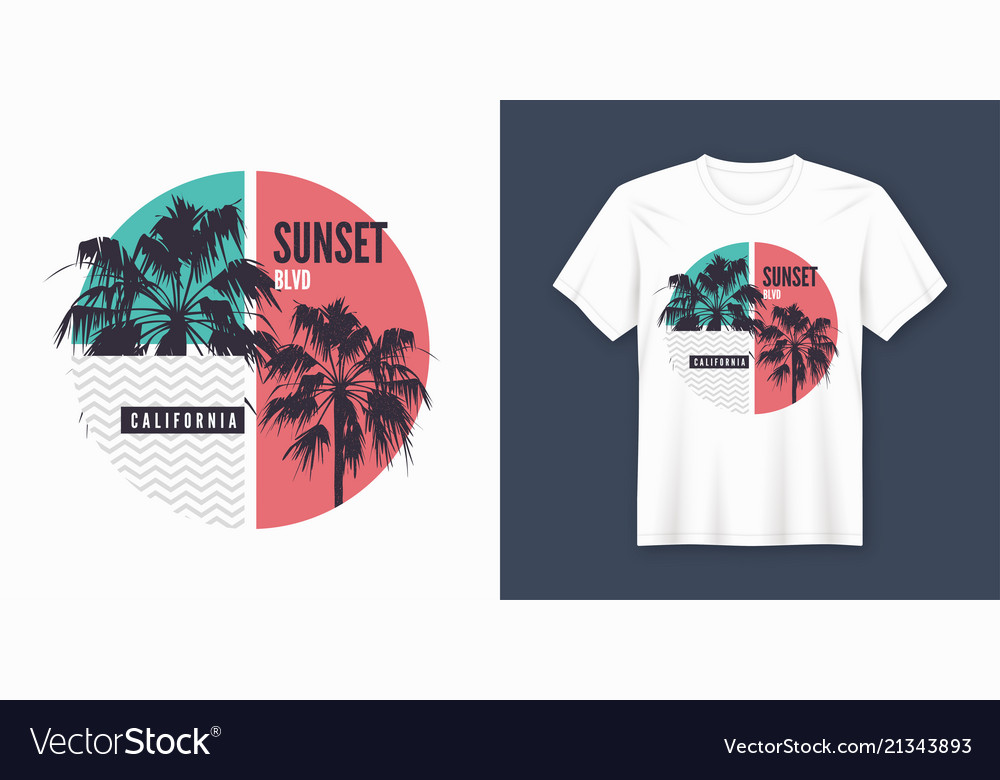 Sunset blvd california t-shirt and apparel trendy