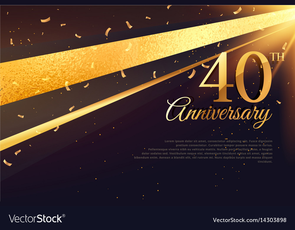 40th anniversary celebration card template