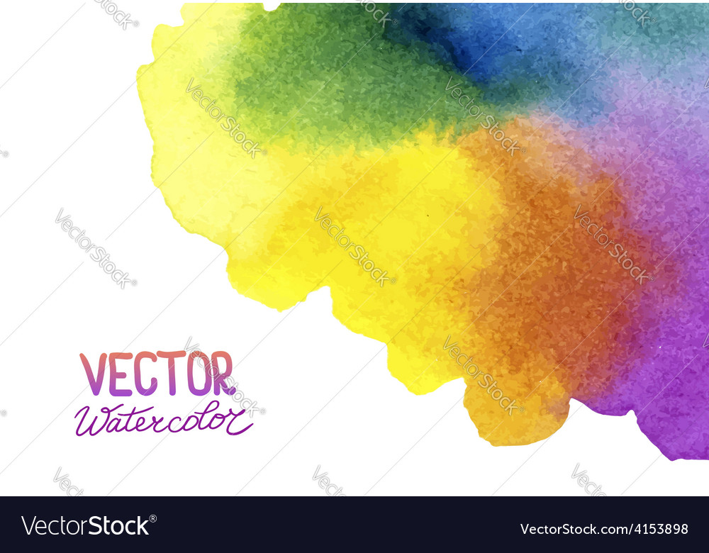 Absctract background with watercolor splash