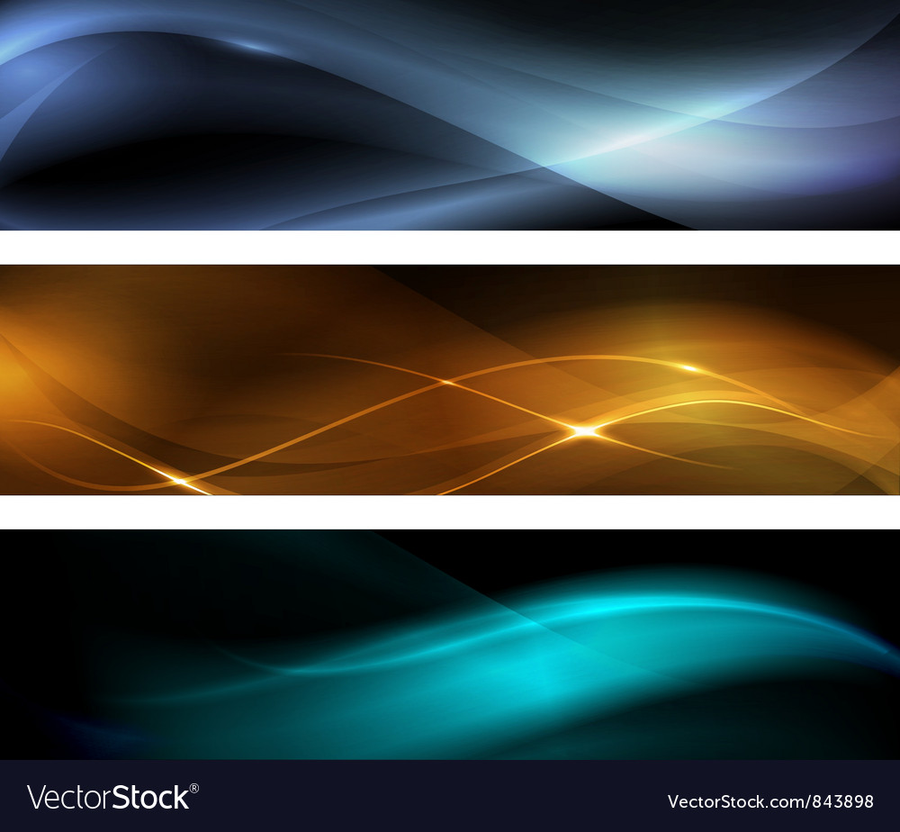 Abstract wave banner