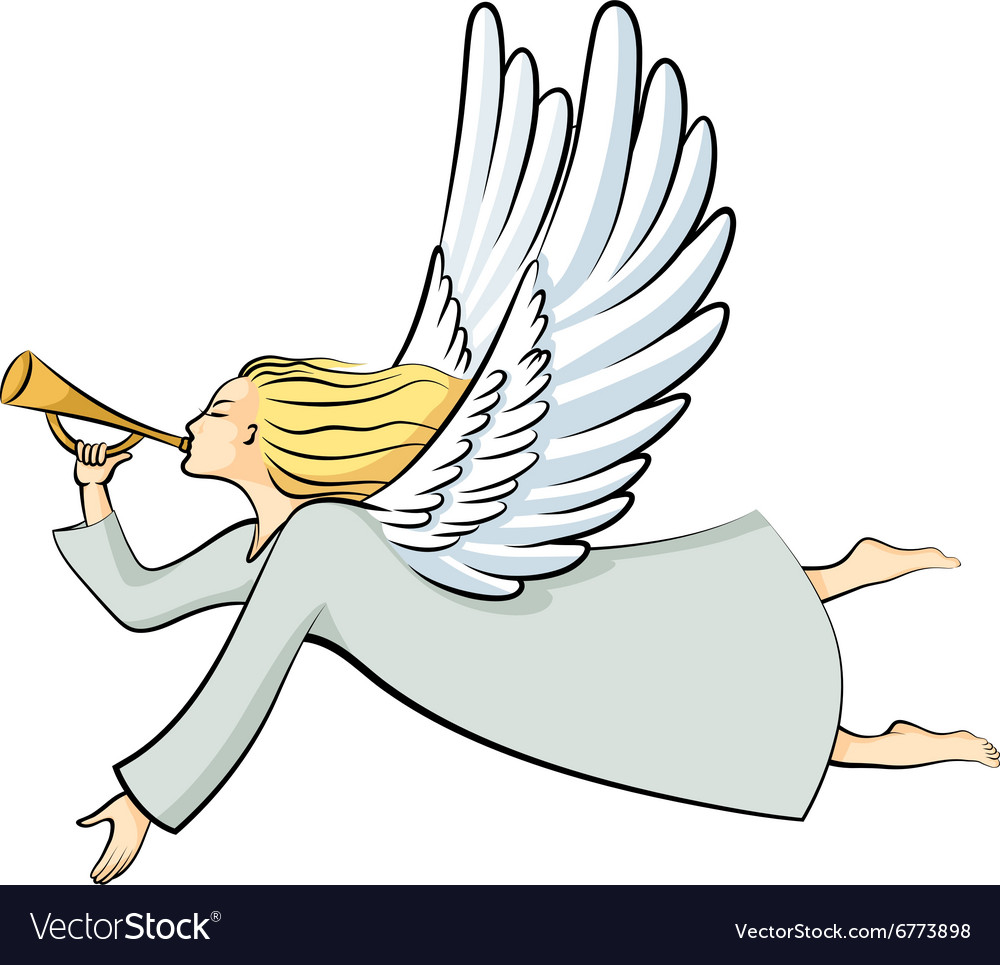Angel color vector image
