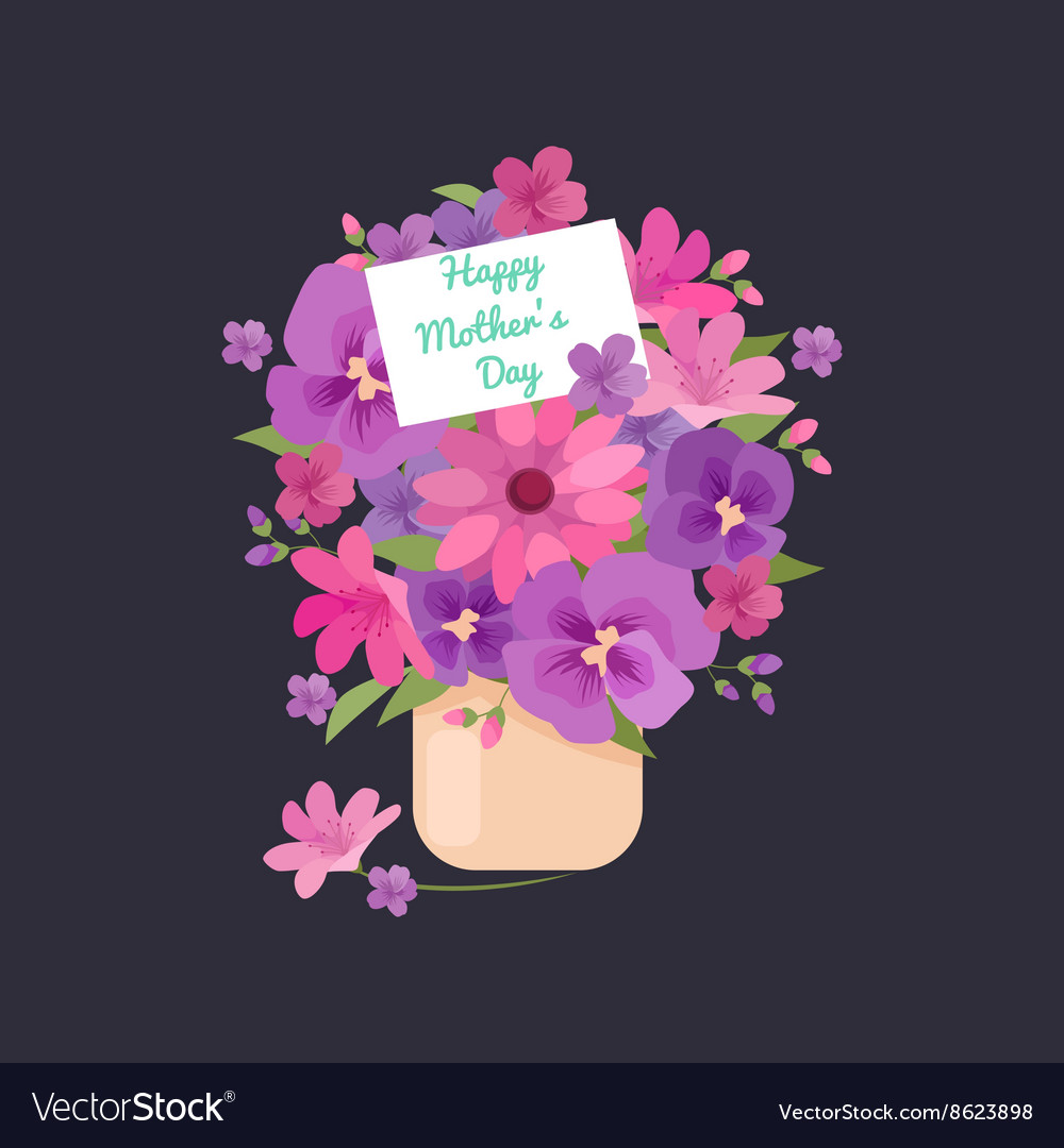 Bouquet of flowers greeting
