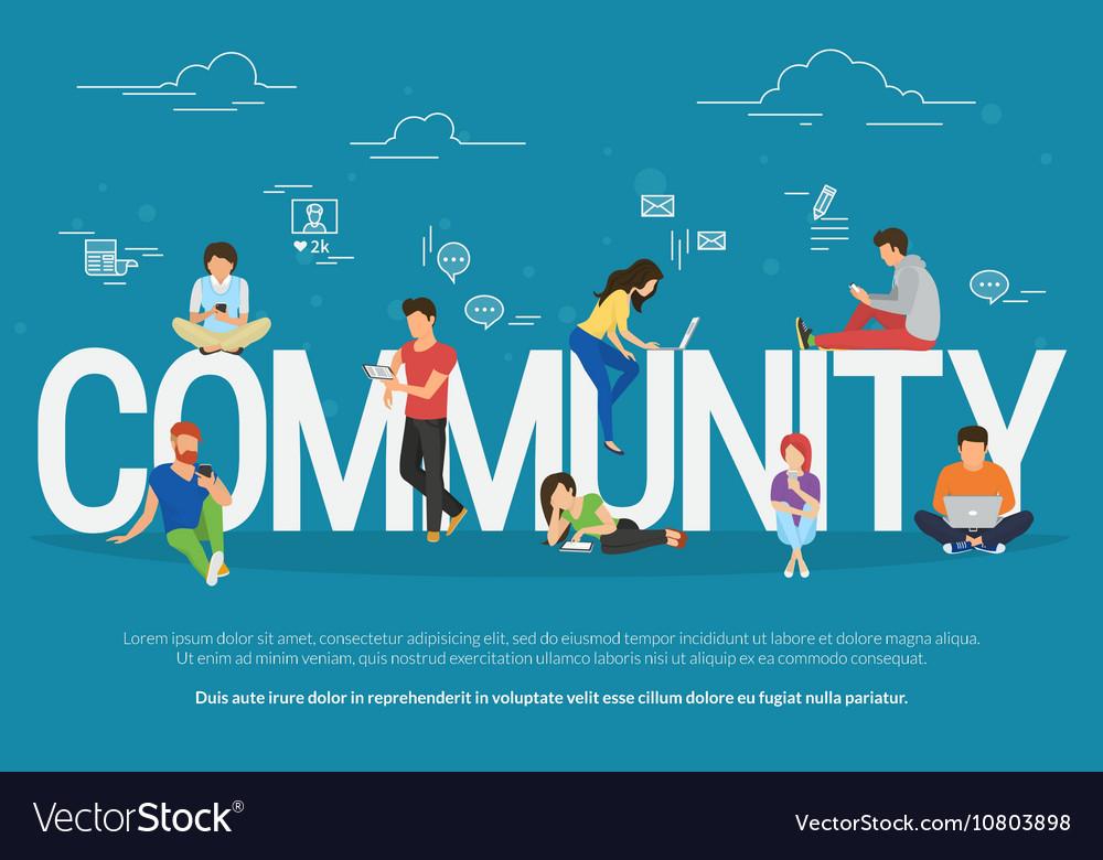 Community concept vector image