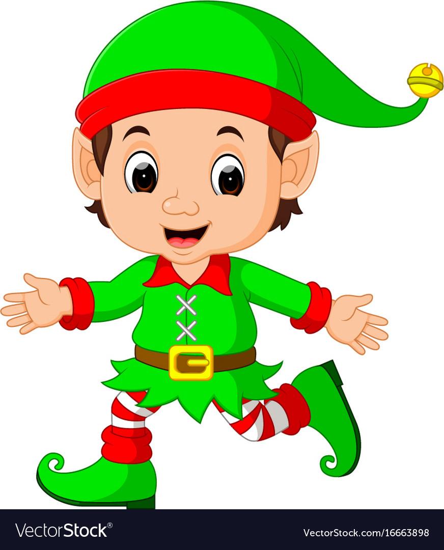 Cute elf cartoon Royalty Free Vector Image - VectorStock