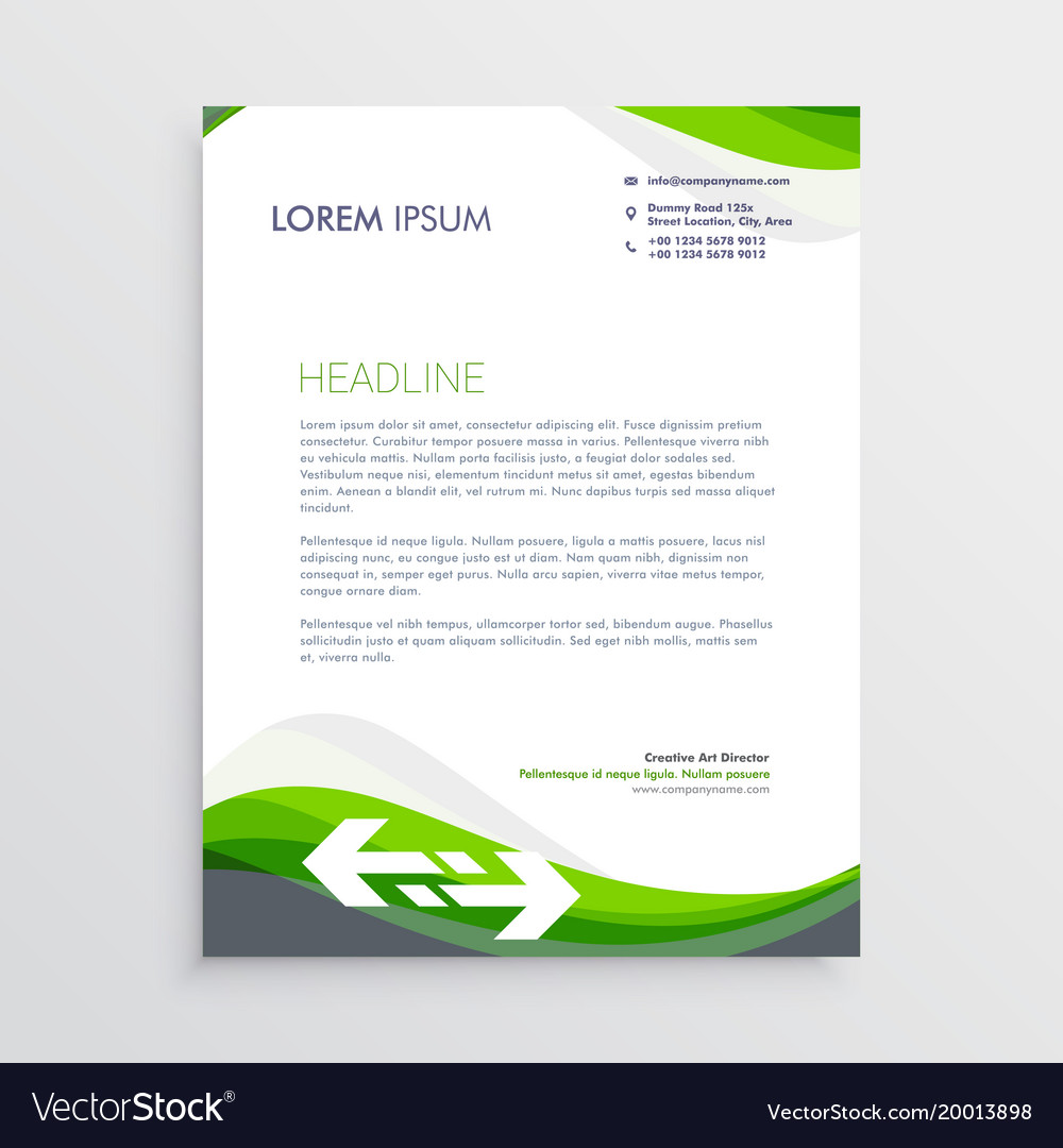 Elegant green and gray letterhead design template vector image spiritdancerdesigns Image collections