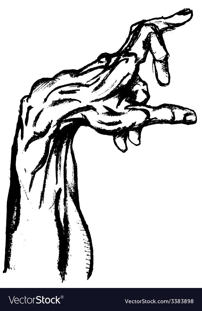 Hand drwan hand vector image