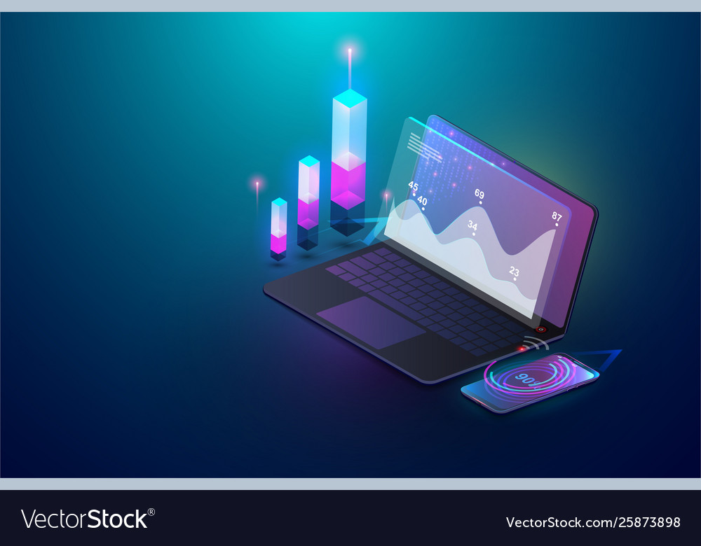 Isometric financial analytic and business