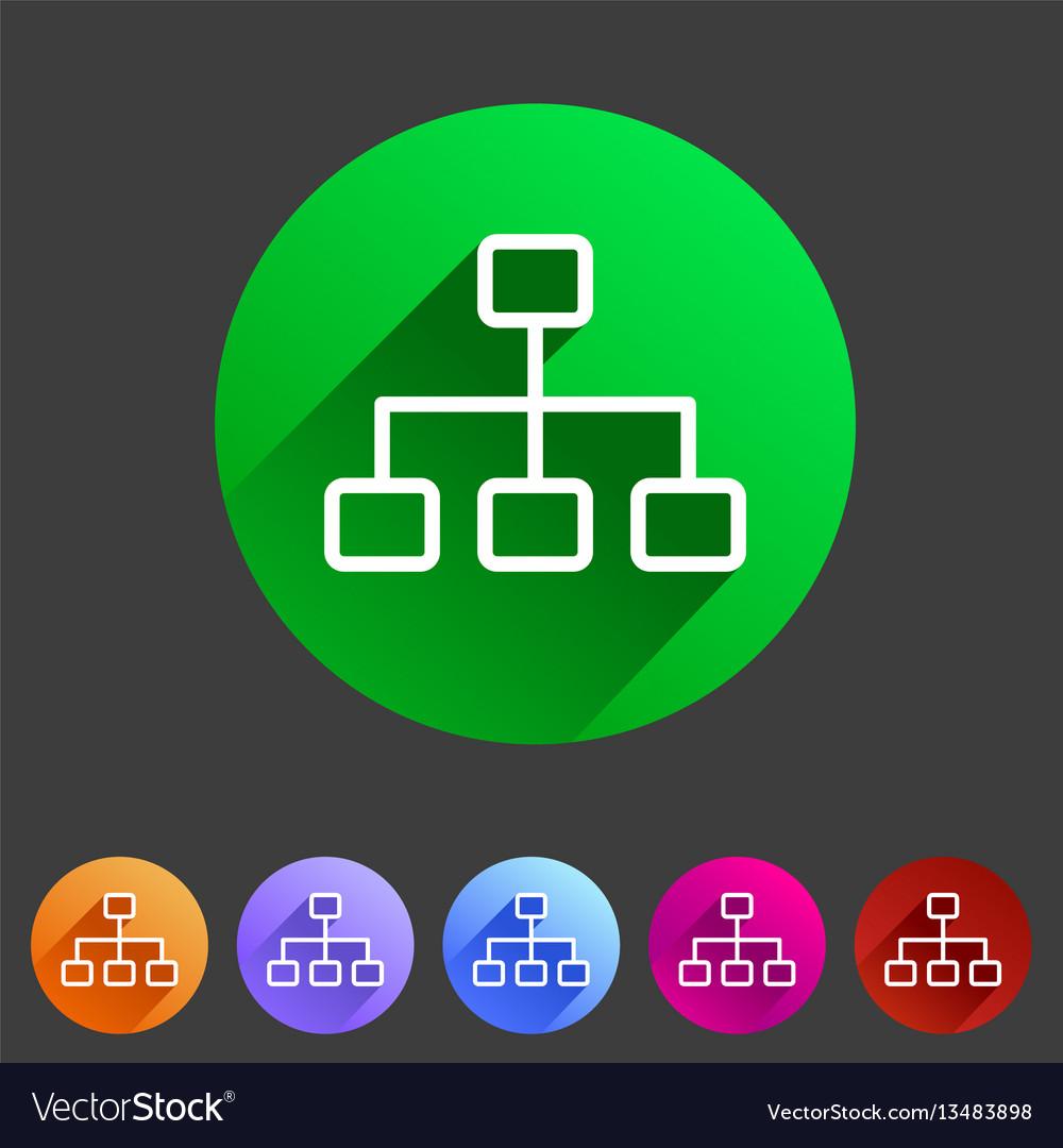 Line hierarchy icon flat web sign symbol logo