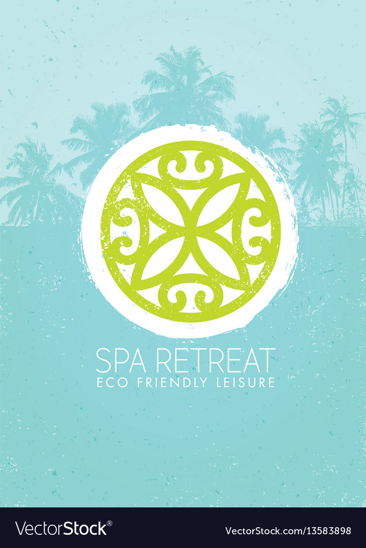 Spa retreat organic eco background nature