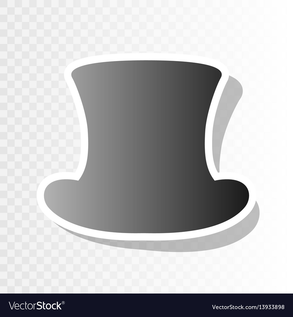 top hat sign new year blackish icon on vector image