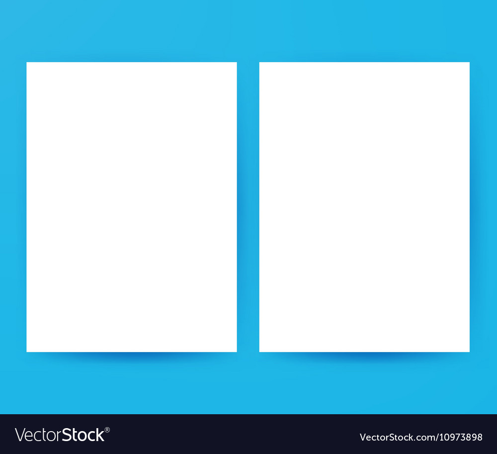 Two White Blank Posters Mockup