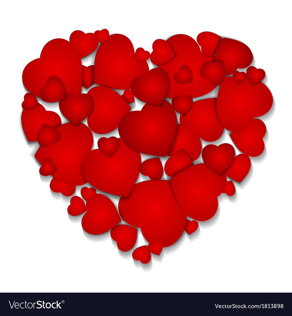 Valentine Greeting Card With Big Heart Royalty Free Vector