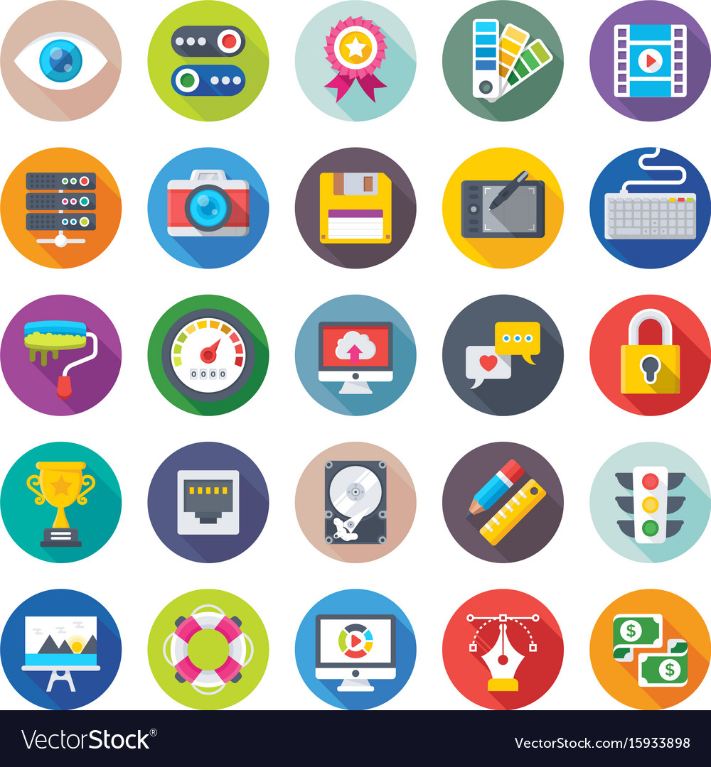 Web design and development icons 1