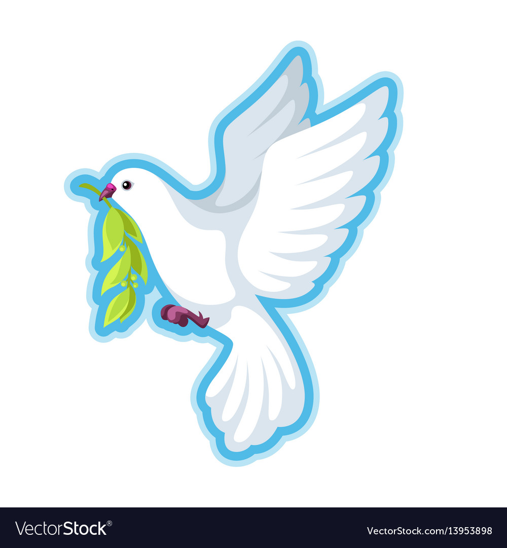 White Dove With An Olive Branch Royalty Free Vector - Illustration - Free  Transparent PNG Clipart Images Download