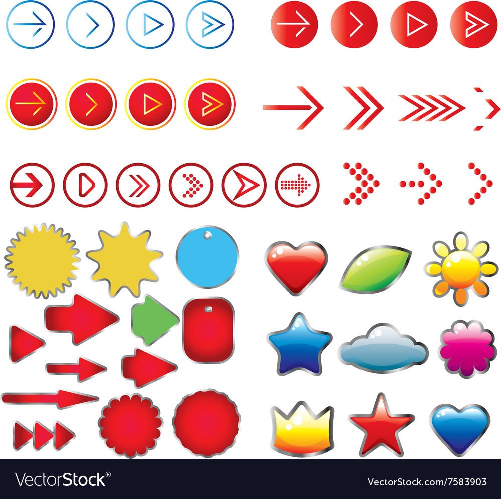 Arrows sign set vector image