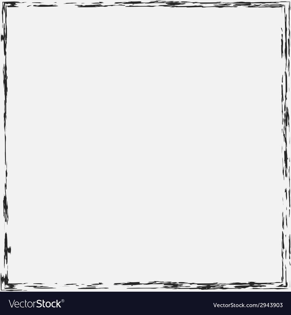 Border Grunge Background vector image