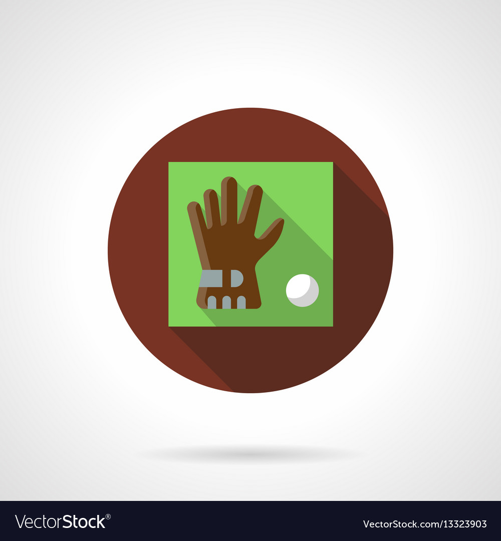 Golf accessories brown round icon vector image
