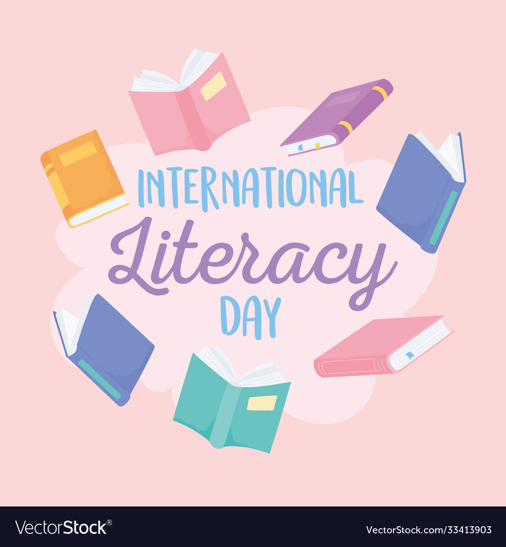 International literacy day many books education