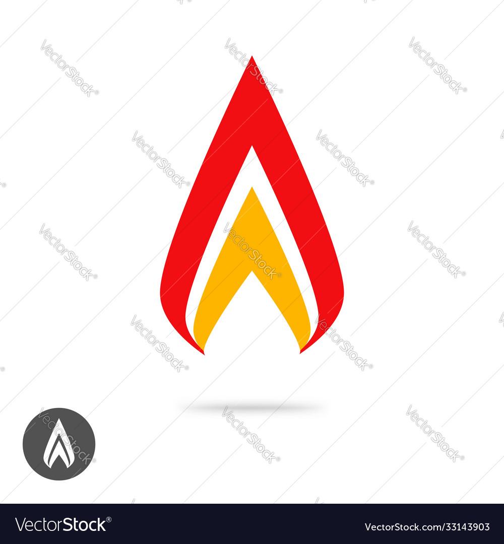 Logo flame fire geometric or spear sharp logotype