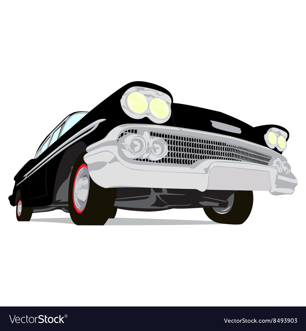 Vintage muscle cars cartoon sketch