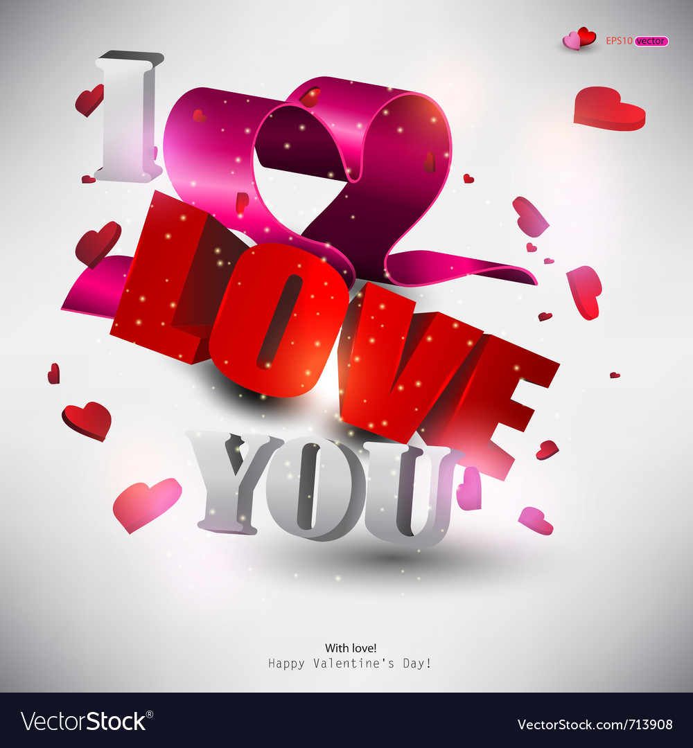 Love Pictures On D Word Love With Hearts Vector  By Borovkova